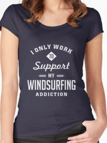 Windsurfing Extreme Sport Women's Fitted Scoop T-Shirt