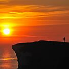 Watching the Sunset at Beachy Head by Kasia Nowak