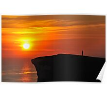 Watching the Sunset at Beachy Head Poster
