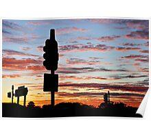 Freeway dawn Poster