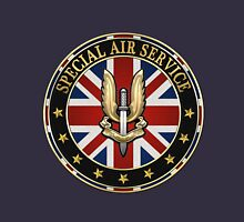 Special Air Service - S A S Badge Special Edition over Blue Velvet Unisex T-Shirt