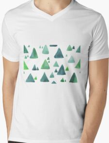 Water color  pattern with blue and green triangular shapes. T-Shirt
