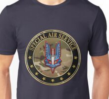 Special Air Service - S A S Insignia Special Edition over Blue Velvet Unisex T-Shirt