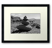 Five Rock Zen Meditation Framed Print