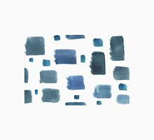 Water color  pattern with blue  square shapes. T-Shirt