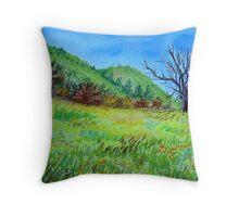 Spring Field ;) Throw Pillow