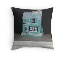 Turquoise Tudor Facade Throw Pillow