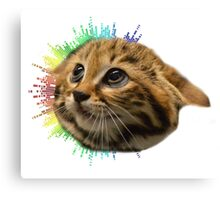 Cat-bow Canvas Print