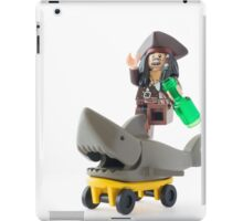 Why jump the shark when you can ride one? iPad Case/Skin