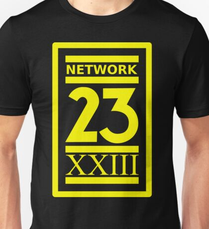 Max Headroom NETWORK 23 Logo Cult Sci-Fi TV Show Unisex T-Shirt