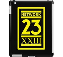Max Headroom NETWORK 23 Logo Cult Sci-Fi TV Show iPad Case/Skin