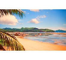 the island. Seychelles. Photographic Print