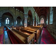 Church Benches Photographic Print