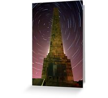 Scarborough Startrails Greeting Card