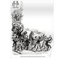 Achille Sirouy Mark Twain Les Aventures de Huck Huckleberry Finn illustration p225 Poster