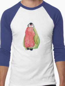 Watermelon Penguin Men's Baseball ¾ T-Shirt