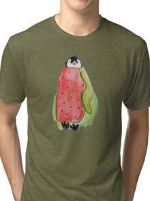 Watermelon Penguin Tri-blend T-Shirt