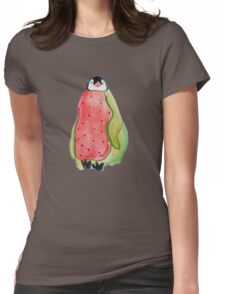 Watermelon Penguin Womens Fitted T-Shirt