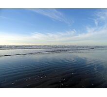 Quinault Beach Patterned Reflection  Photographic Print