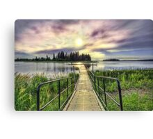 Boardwalk into Sunset HDR Canvas Print