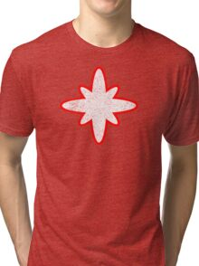 Captain Atom Logo - Distressed Shirt Tri-blend T-Shirt