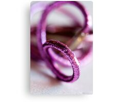 sparkly Pink hair ties - Breast Cancer Awareness Month Canvas Print