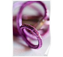 sparkly Pink hair ties - Breast Cancer Awareness Month Poster