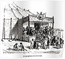 Achille Sirouy Mark Twain Les Aventures de Huck Huckleberry Finn illustration p157 Poster