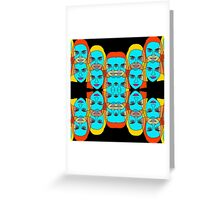 colorful women Greeting Card