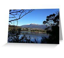 Snowy Mount Wellington Greeting Card