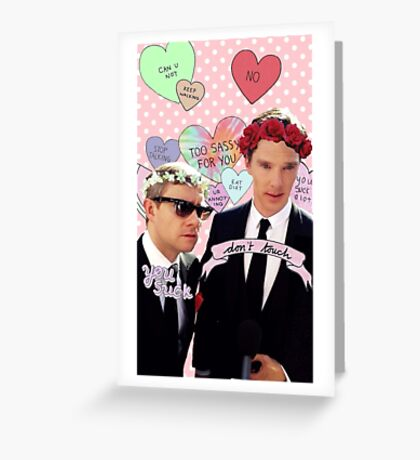 Sassy Cumberbatch and Freeman Greeting Card