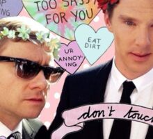 Sassy Cumberbatch and Freeman Sticker