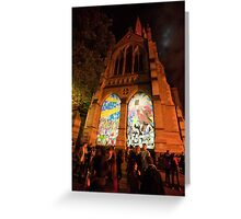 0340 Melbourne - White Night 14 Greeting Card
