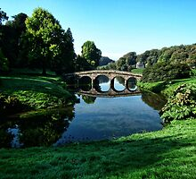 Bridge At Stourhead National Trust by lynn carter
