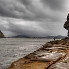Fishing, anytime, any weather - Pearl Beach by Jason Ruth