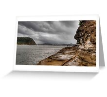 Fishing, anytime, any weather - Pearl Beach Greeting Card
