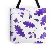 Ink Oak Leaves and Acorns seamless pattern Tote Bag