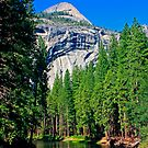 North Dome and Merced River by Tamara Valjean