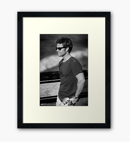 Surfs Up [Jamie Bamber) Framed Print