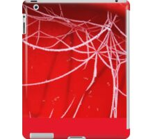 Red and White, Frosty Abstract. iPad Case/Skin