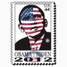 OBAMA|BIDEN ELECTION STAMP TEE 2012 by S DOT SLAUGHTER