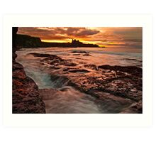 Tantallon Sunset Art Print