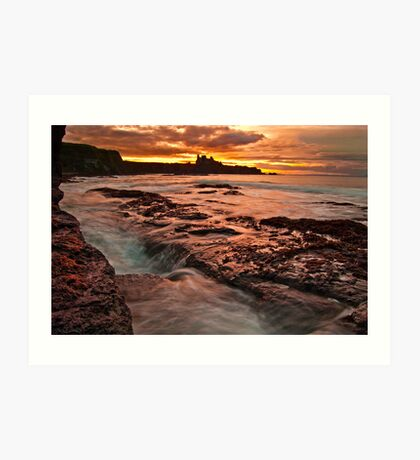 Tantallon Sunset Art Print