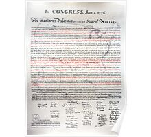 The Declaration of Independence – red letter edition Poster