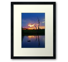 Twilight,Campaspe River,Elmore Victoria Framed Print
