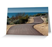 Walking track at Mandurah Greeting Card