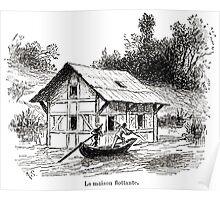 Achille Sirouy Mark Twain Les Aventures de Huck Huckleberry Finn illustration p066 Poster