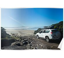 4 Wheel Driving on the West Coast of Tasmania Poster