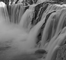 Shoshone Falls In B&W by Nick Boren