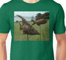 Sculptures on Edge-Fish on sticks,Australia 2015 Unisex T-Shirt
